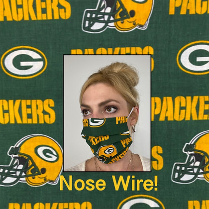 Classic Green Bay Packers Face Mask