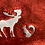 Thumbnail: Supernatural red Sherpa edged  moose and squirrel blanket