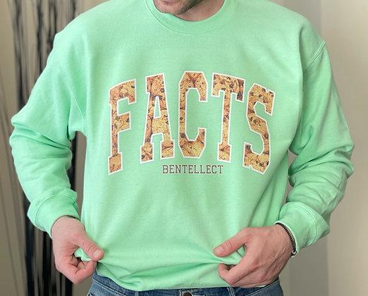 Mint Chocolate Chip Cookie FACTS Bentellect Crewneck Sweatshirt