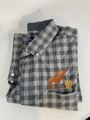 Moose and squirrel plaid shirt 3XL