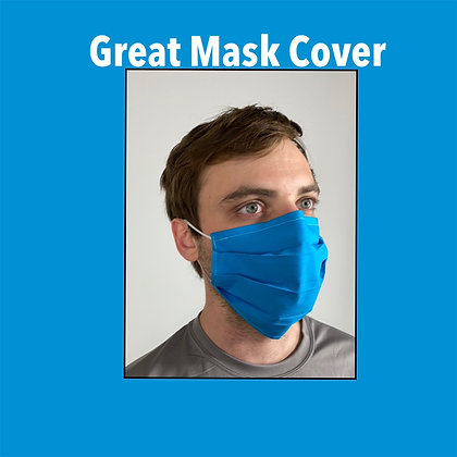 Aqua blue cotton Face Mask washable reusable with nose wire