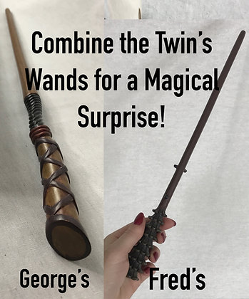 Fred and George Metal Core Collectible Wand Set