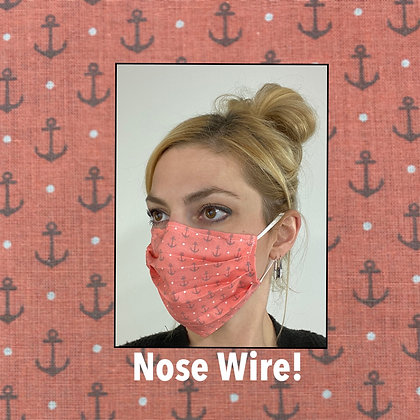 Anchors Nautical Face Mask washable reusable with nose wire