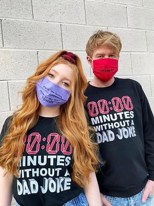 Dad Joke Face Mask Single Layer