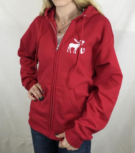 01078ead03e Inspired Custom Zip Up Hoodie Moose & Squirrel Hood Sweatshirt Sam Dean  Castiel
