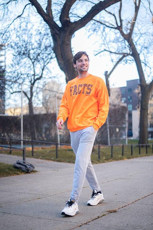 Orange Leopard FACTS Bentellect Crewneck Sweatshirt