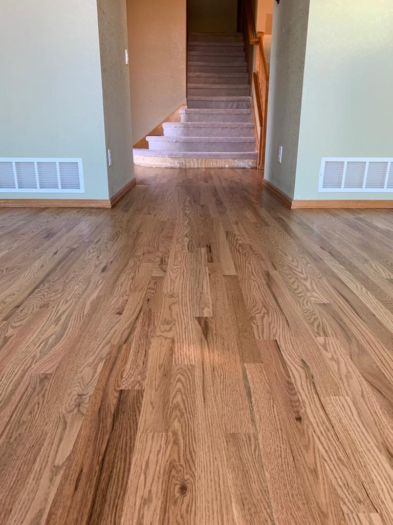 Fruitwood on Beautiful Red Oak Floors