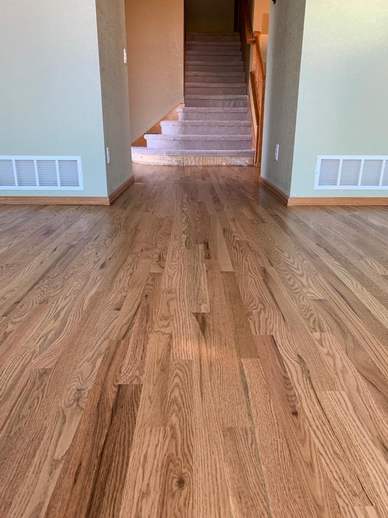 Fruitwood on Beautiful Red Oak Floors