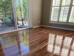 Beautifully Refinished Walnut Floors