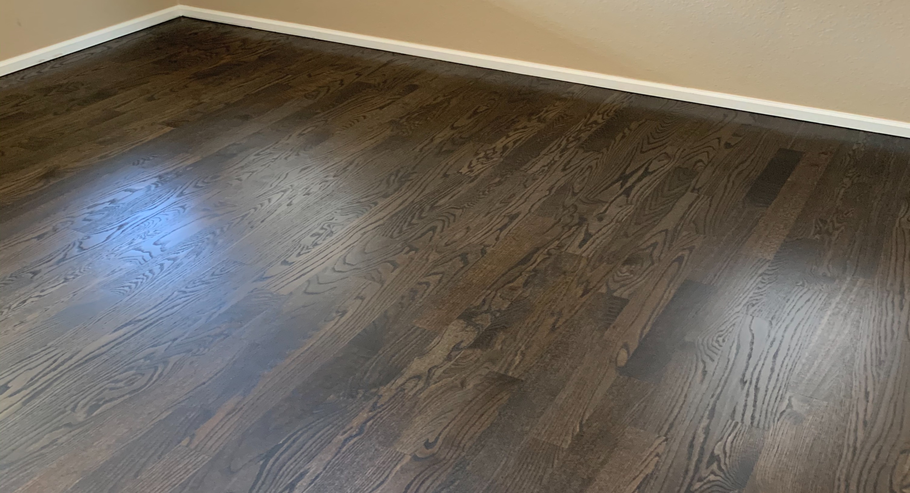 Ebony on Red Oak Floors