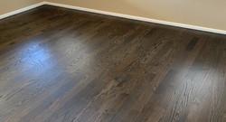 Ebony on Red Oak Floors