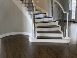 Classic Staircase Upgrade with Jacobean Stain