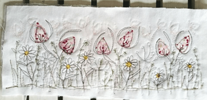 embroidery of flowers
