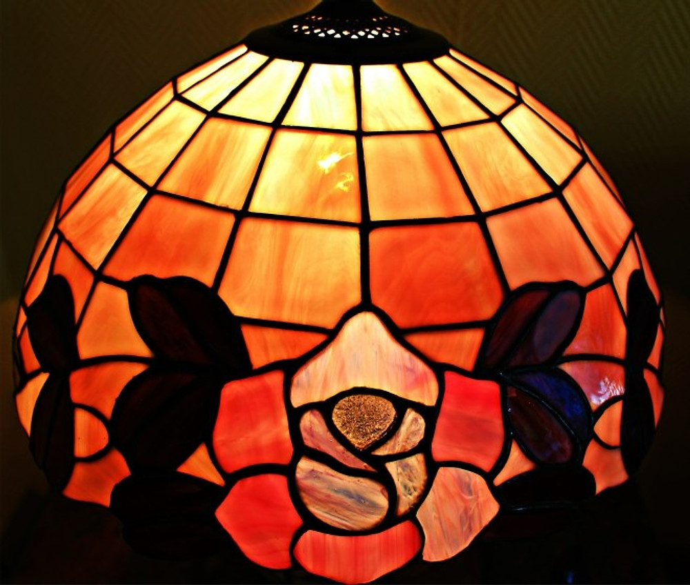 detail from a tiffany lamp