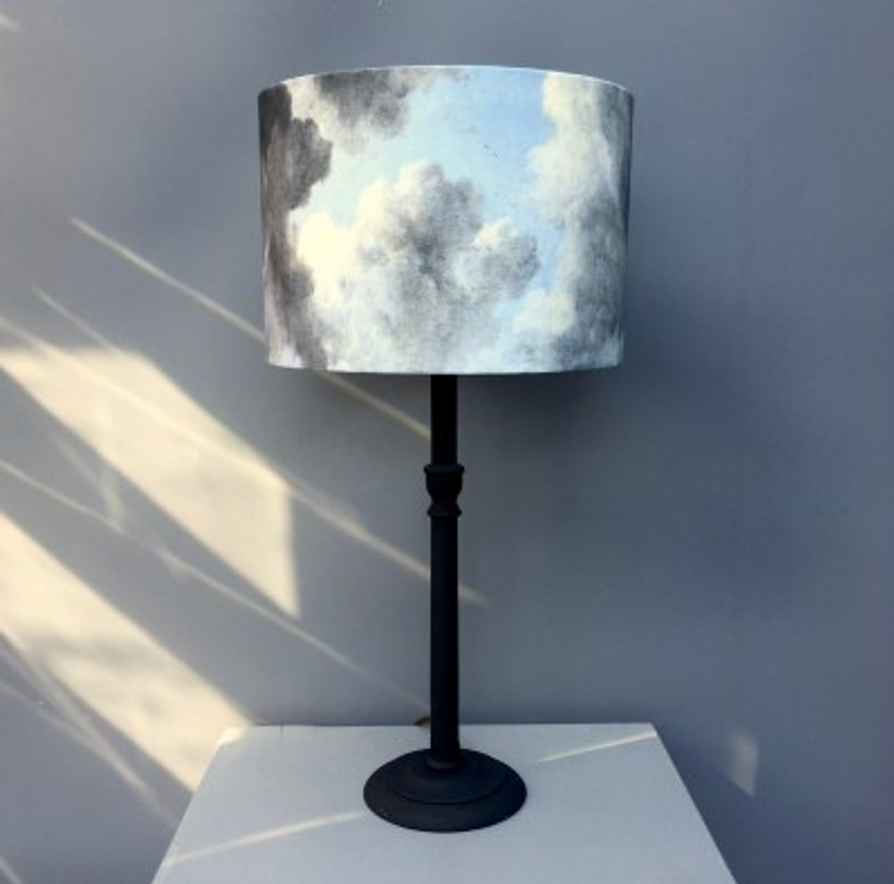 Hand painted lampshade and DIY painted lamp base tutorial