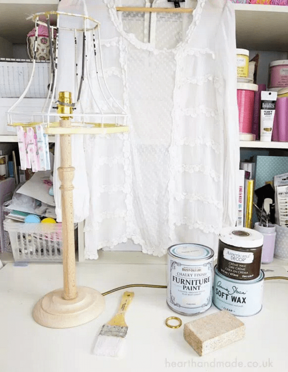 How To Make A Shabby Chic Lampshade and Lampbase. Things needed to make project.