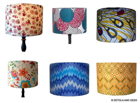 Detola and Geek's Ankara print lampshades are runner up #3 in our Needcraft competition!