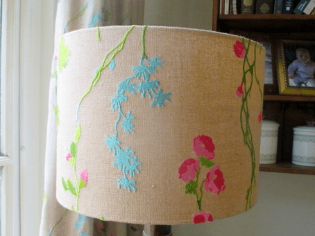 I made a lampshade, it was so easy!