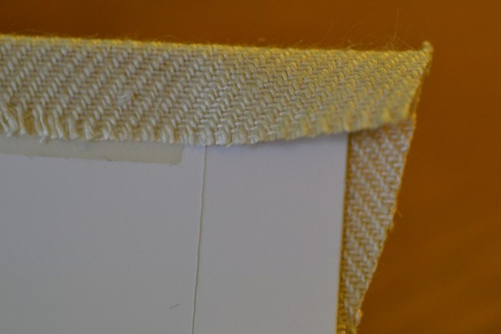 close up image of lampshade making
