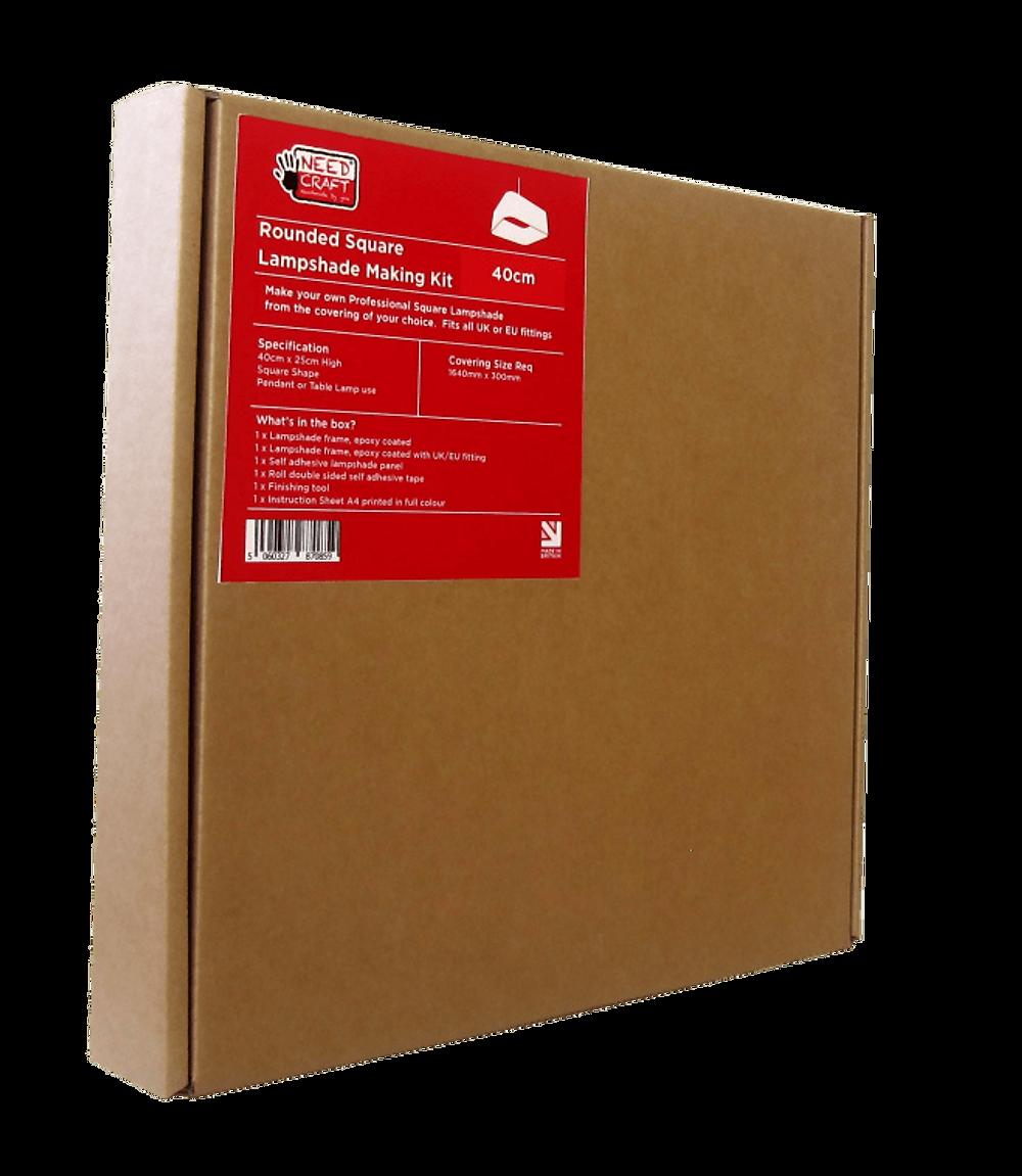 Needcraft DIY lampshade kit, the rounded square lampshade kit box