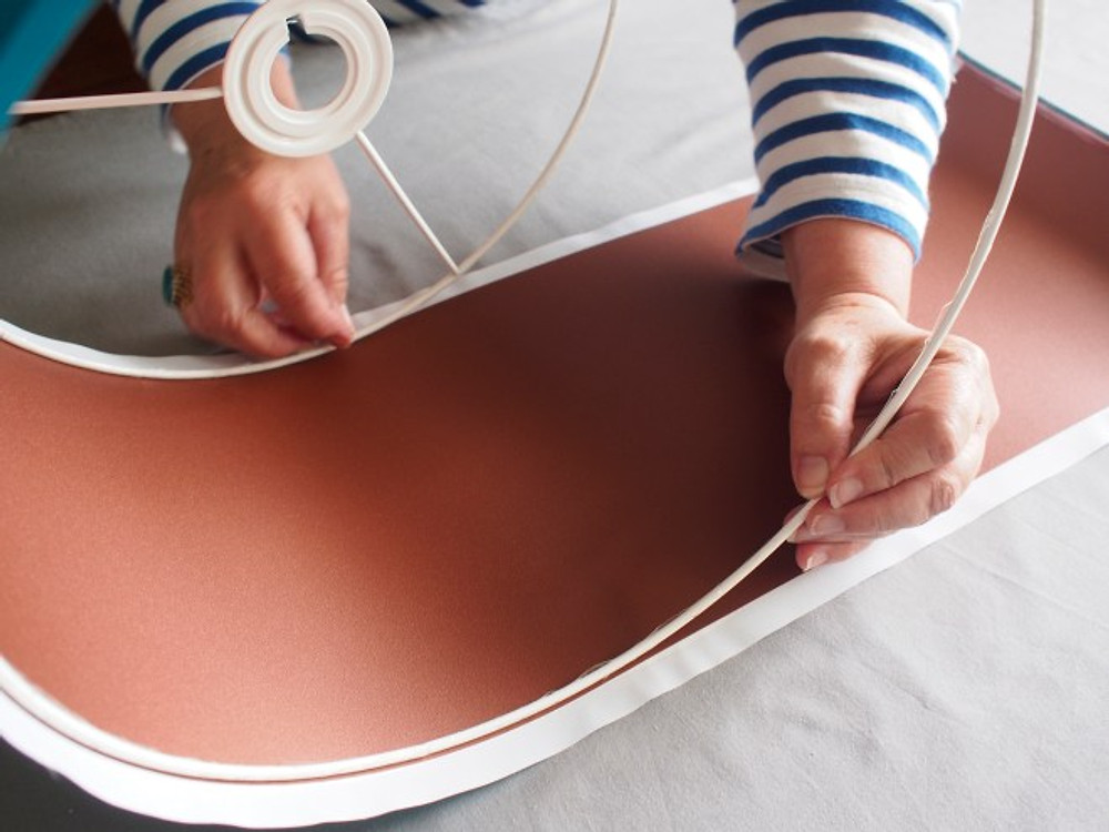 How to make a copper lined lampshade