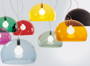 Colourful lampshades designed by Ferruccio Laviani