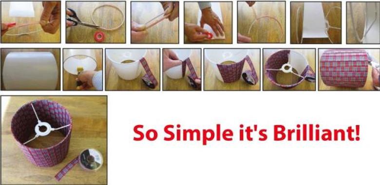 Needcraft ribbon lampshade kit