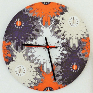 Stitched by You clock kit covered in fabric
