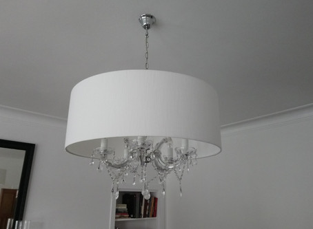Would you make your first handmade lampshade a whopper like this?