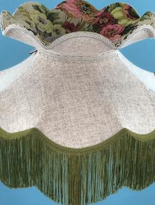 Handmade fabric lampshade with Harris Tweed