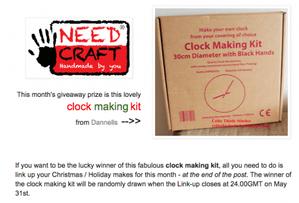 win clock making kit