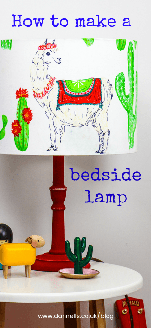 How to make a bedside lamp for a kid's bedroom_P