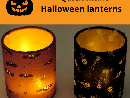 Quick make Halloween lantern kits