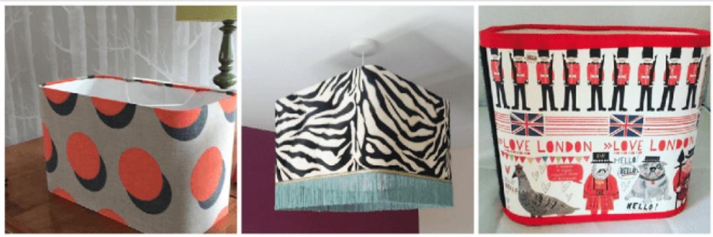 Needcraft DIY lampshade kit, three made up lampshade kits