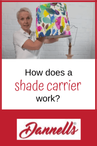 How does a shade carrier work?