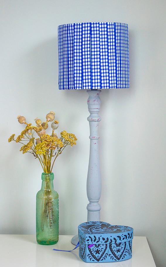 gingham ribbon lampshade