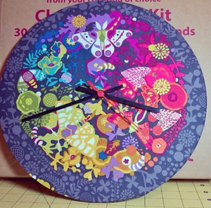 Clock kit covered in fabric