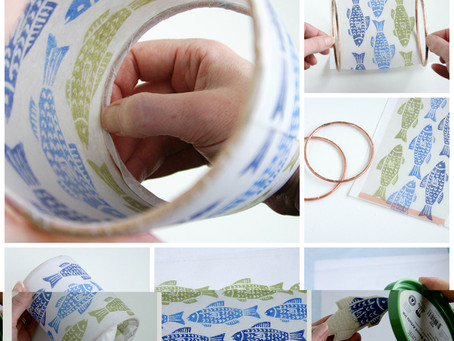 Stamped Tissue Paper Lantern Tutorial