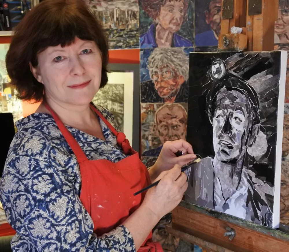 Rosalind Freeborn and her collage portraits
