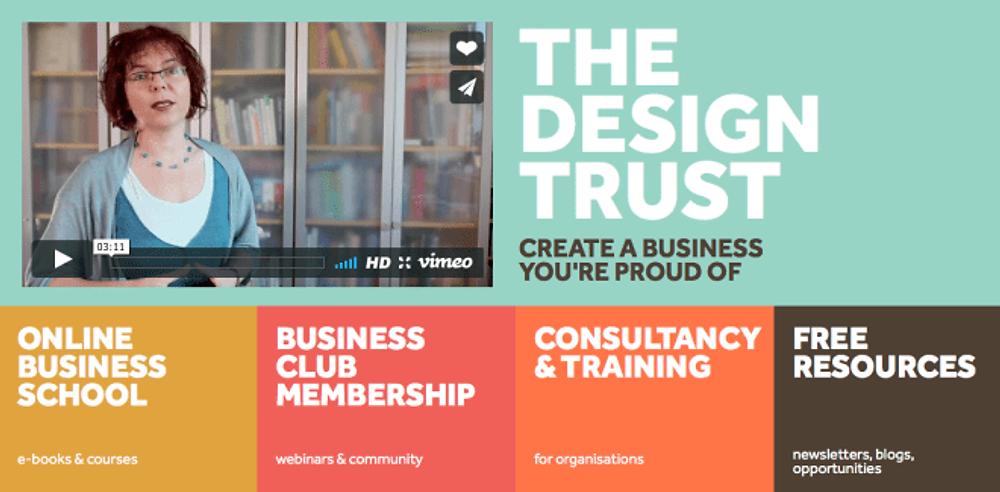 The Design Trust: screenshot from blog