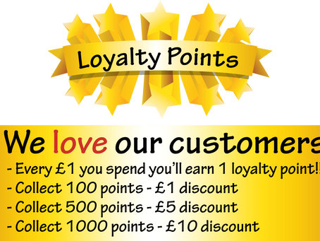 Loving our customers with loyalty points!