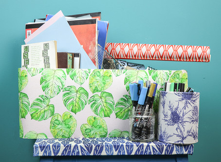Make storage special with a handmade organiser