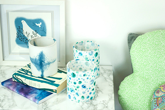 lanterns by bedside on table