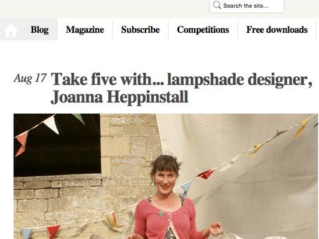 Needcraft's lampshade making expert in Craftseller Magazine