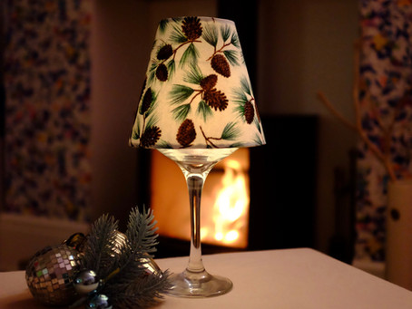 Christmas DIY tutorial –  Balloon glass candle shade lights