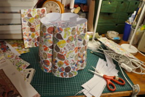 Papershade being made in a studio.