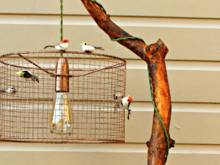 How to make a birdcage lampshade