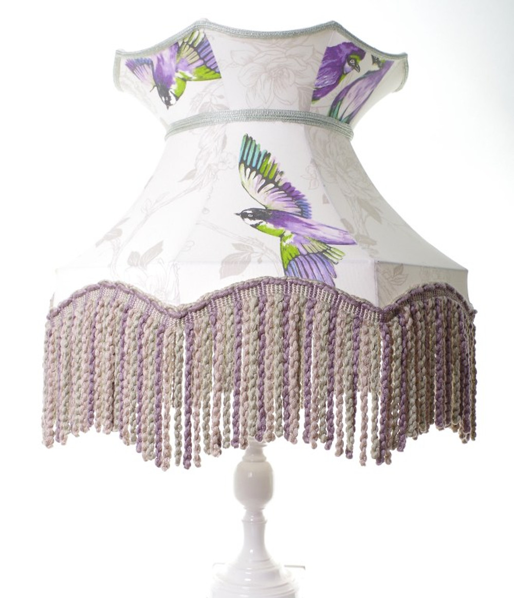 businesswoman Little Peg Lamps. Hand stitched lampshade