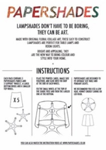 how to make a Papershade instruction sheet