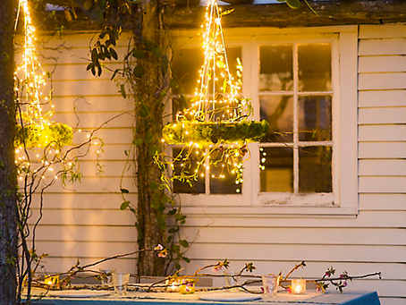4 Ways to create a magical garden with outdoor fairy lights